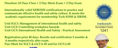 NEBOSH Training GC3 tips, CMIOSH tutors only @ ashei 9447609617