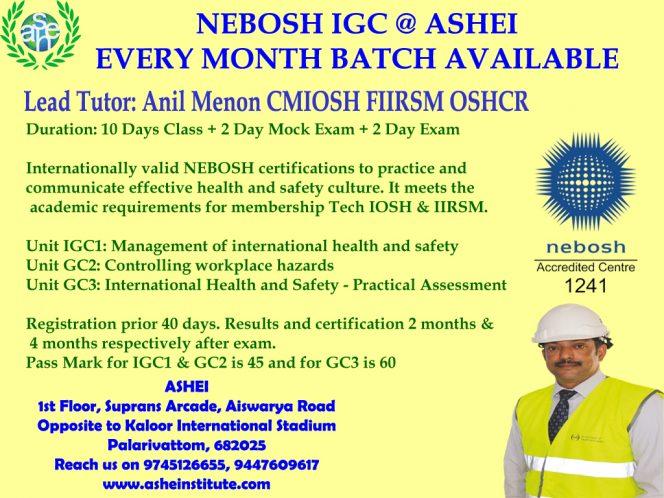 NEBOSH Training GC3 tips, CMIOSH tutors only @ ashei 9447609617