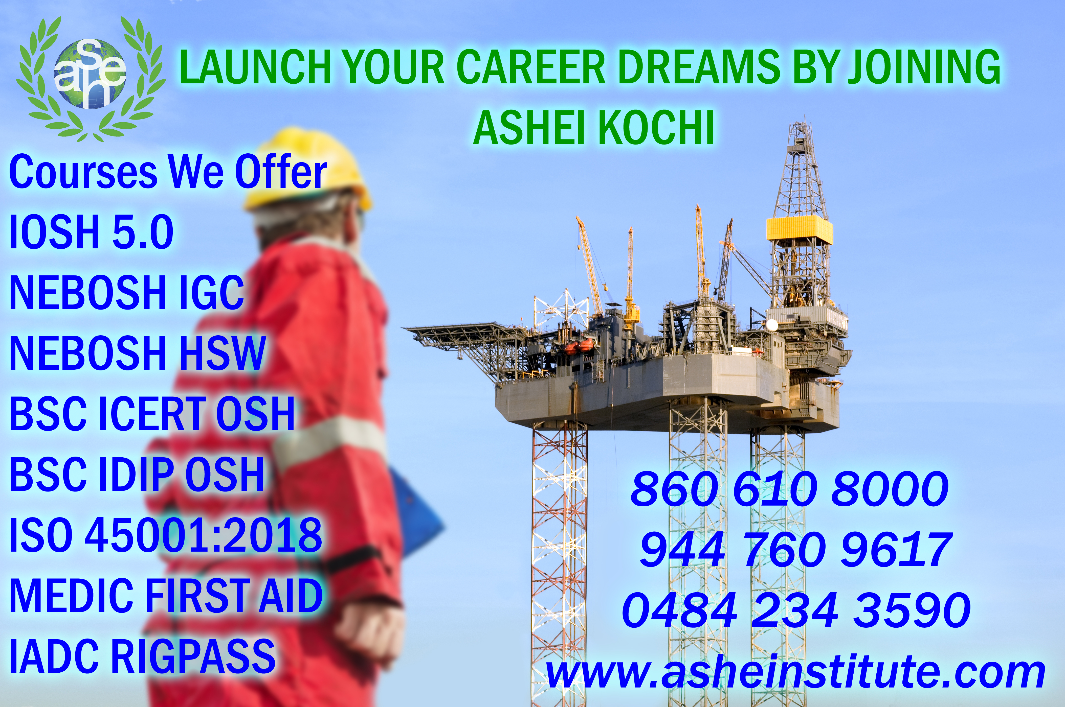 nebosh igc course Safety training in Kochi 8606108000