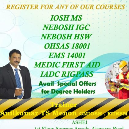 nebosh HSE MANAGER PACKAGE ASHEI KOCHI 8606108000