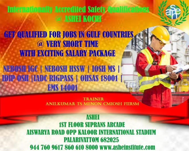 International Safety courses in kochi
