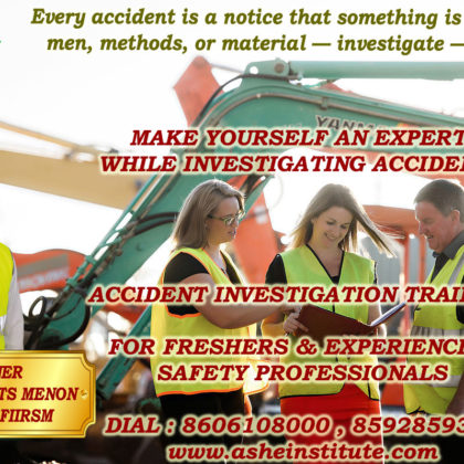 Safety officer training in kochi. join ashei 9447609617