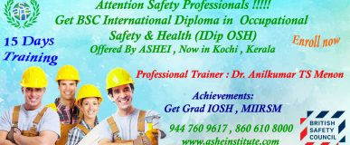 IDIP Osh Level 6 @ Kochi & Qatar. for details dial-8606108000