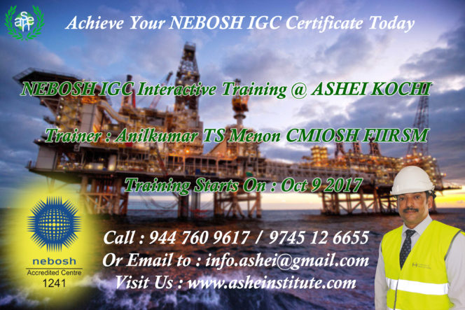 nebosh igc in kochi call 9447609617