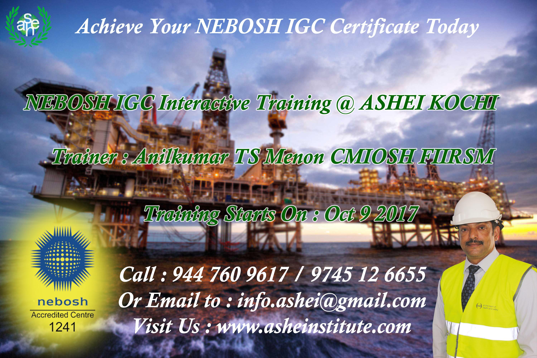 nebosh igc in kochi call 9447609617