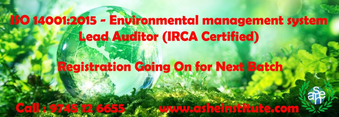 ISO 14001 :2015 Lead Auditor Course in Kerala dial : 8606108000