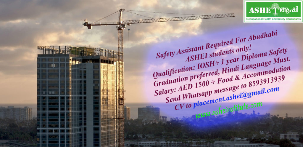 Safety Assistant Vacancy asheinstitute.com