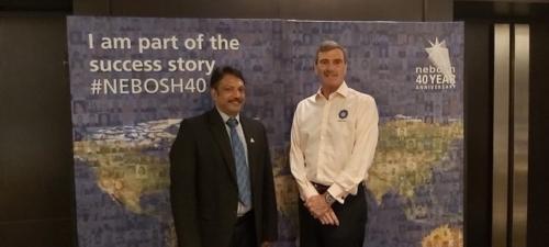 Anil Menon CMIOSH at NEBOSH 40